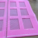 3 layers of silicon sheet for the Dark Chocolate Plaquettes mould